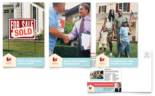 Home Real Estate Postcard Template