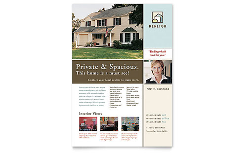 House for Sale Real Estate Flyer Template