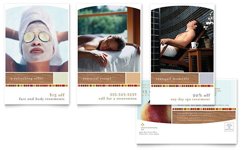 Health & Beauty Spa Postcard Template