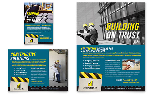 Industrial & Commercial Construction Flyer & Ad Template
