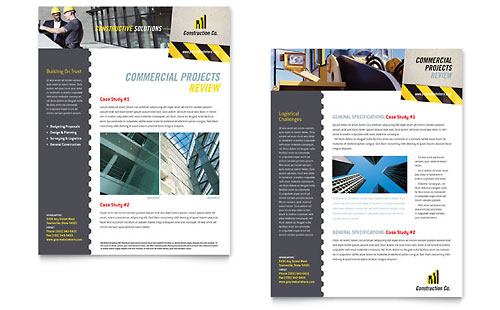 Industrial & Commercial Construction Datasheet Template
