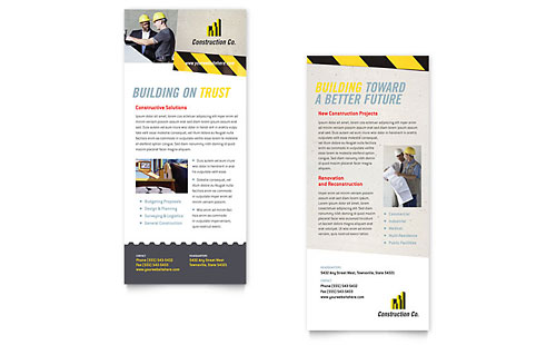 Industrial & Commercial Construction Rack Card Template