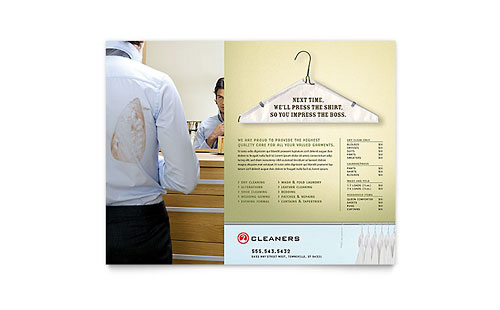 Laundry & Dry Cleaners - Flyer Template