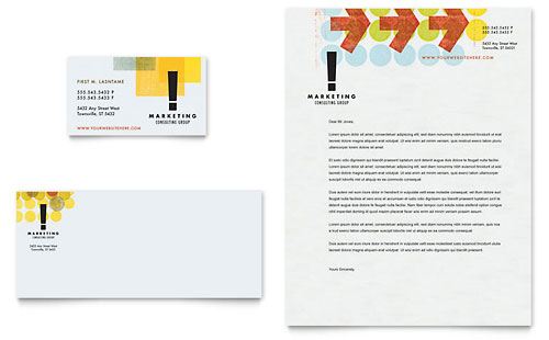 Marketing Consultant Business Card & Letterhead Template