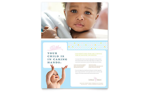 Infant Care & Babysitting Flyer Template