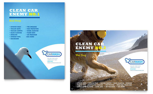 Car Cleaning Poster Template