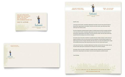Landscape & Garden Store Business Card & Letterhead Template