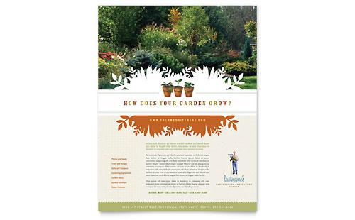 Landscape & Garden Store Flyer Template