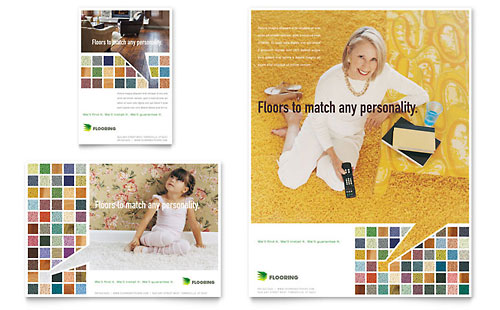 Carpet & Hardwood Flooring - Flyer & Ad Template