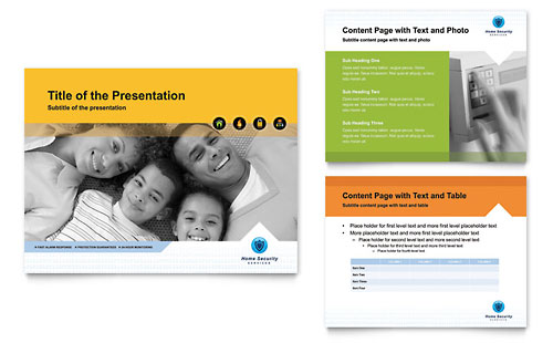 Home Security Systems PowerPoint Presentation Template