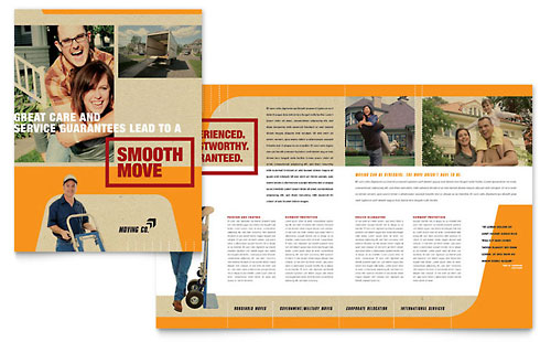 Movers & Moving Company Brochure Template