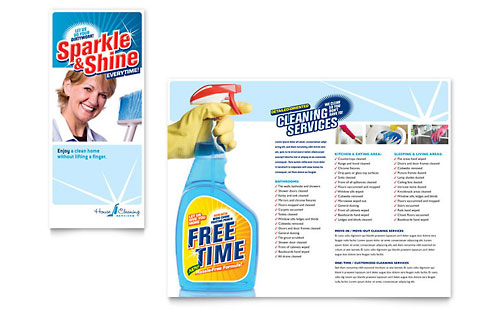 House Cleaning & Housekeeping Brochure Template