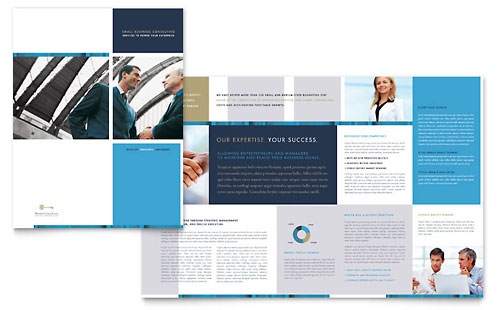 Small Business Consulting Brochure Template