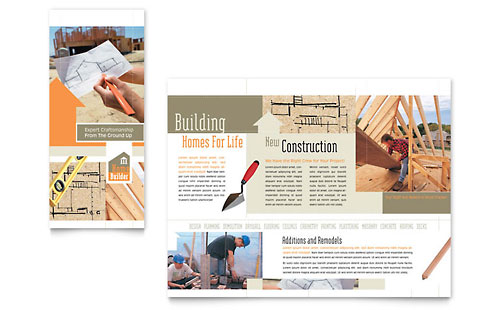 Home Building Carpentry Brochure Template