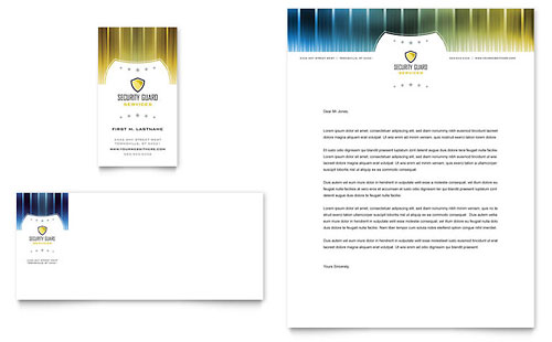 Security Guard Business Card & Letterhead Template