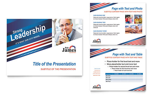 Political Campaign PowerPoint Presentation Template
