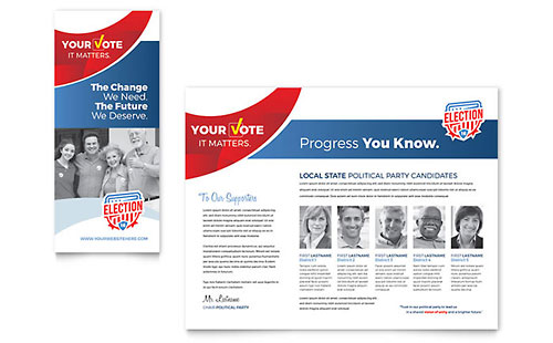 Election - Sample Pamphlet Template
