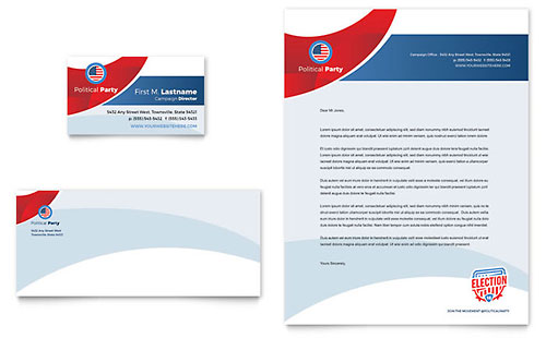 Election Business Card & Letterhead Template