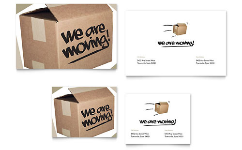 We're Moving - Note Card Template