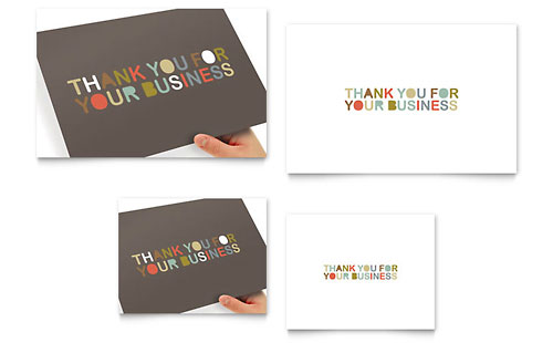 Thank You for Your Business Note Card Template
