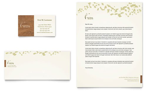 Naturopathic Medicine Business Card & Letterhead Template