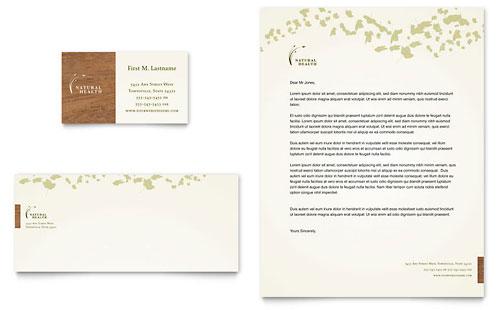 Naturopathic Medicine Business Card & Letterhead Template