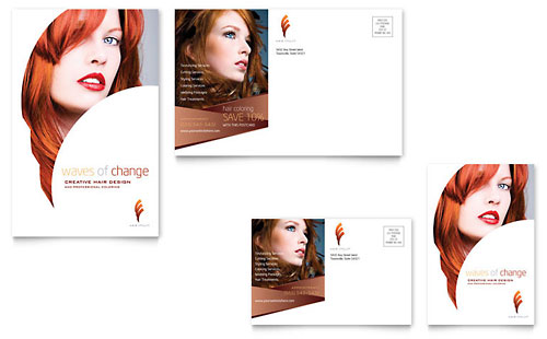 Hair Stylist & Salon Postcard Template