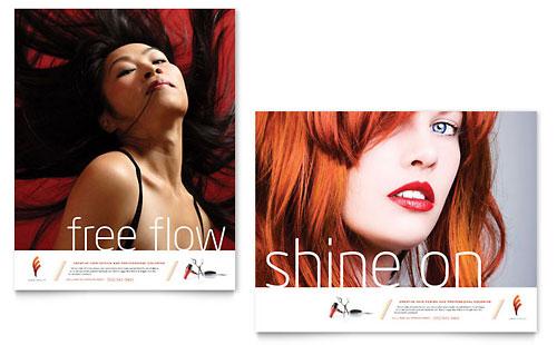 Hair Stylist & Salon - Poster Template