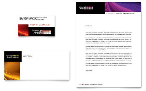 Makeup Artist Business Card & Letterhead Template