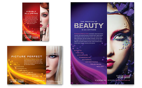 Makeup Artist Flyer & Ad Template
