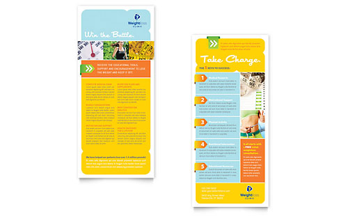 Diet & Weight Loss | Rack Card Templates | Medical & Health Care
