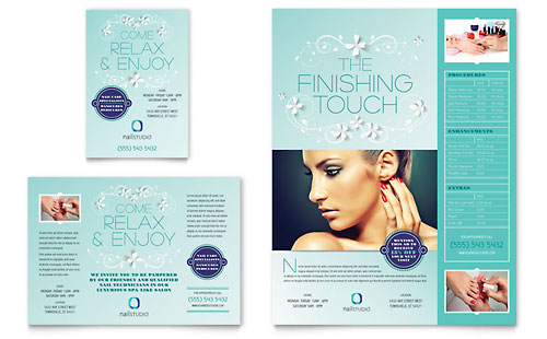 Nail Technician Flyer & Ad Template