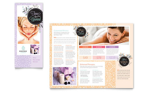 Massage Brochure Template