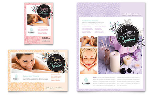 Massage Flyer & Ad Template