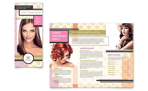 Hairstylist Print Design Brochure Template