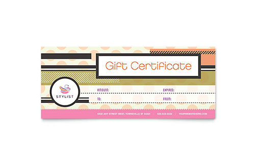 Hairstylist Gift Certificate Template