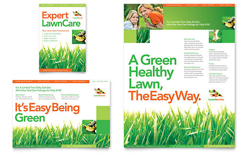 Lawn Mowing Service Brochure Template Design