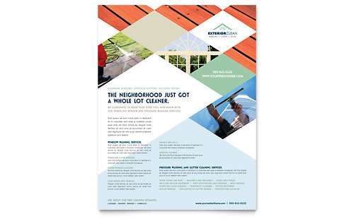 Window Cleaning & Pressure Washing Flyer Template