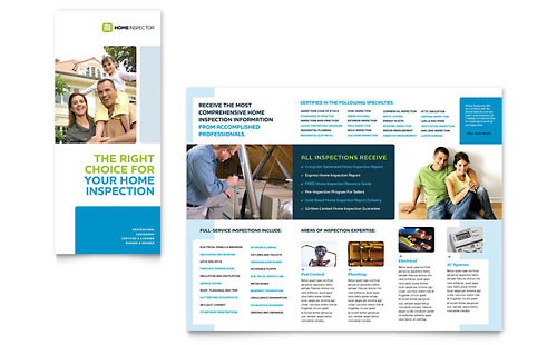 Home Inspection & Inspector Tri Fold Brochure Template