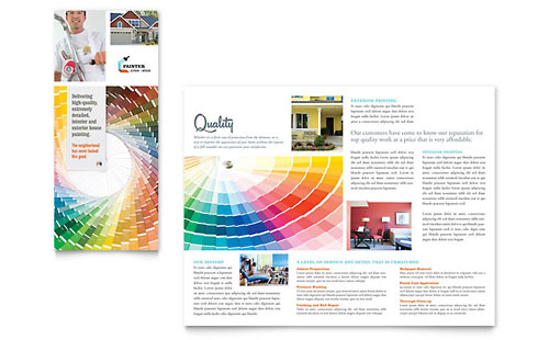 House Painting Contractor Tri Fold Brochure Template