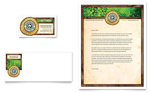 Tree Service Business Card & Letterhead Template