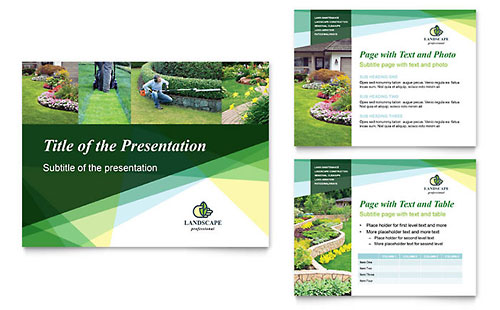 Landscaper - PowerPoint Presentation Template