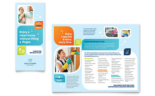 Cleaning Services Brochure Template
