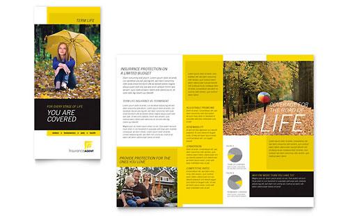 Insurance Agent - Tri Fold Brochure Template