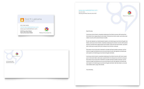 Medical Insurance - Business Card & Letterhead Template