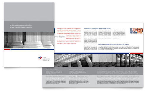 Legal & Government Services - Brochure Template