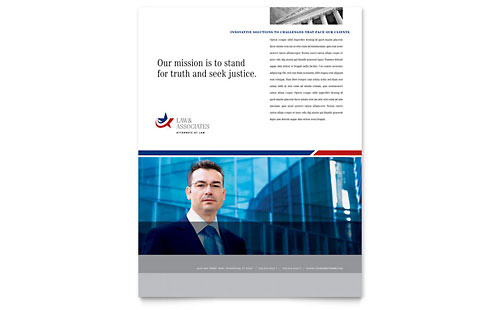 Legal & Government Services Flyer Template