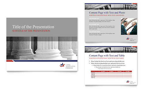 Legal & Government Services PowerPoint Presentation Template