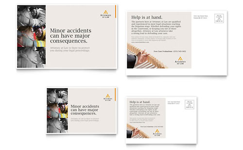 Legal Advocacy Postcard Template