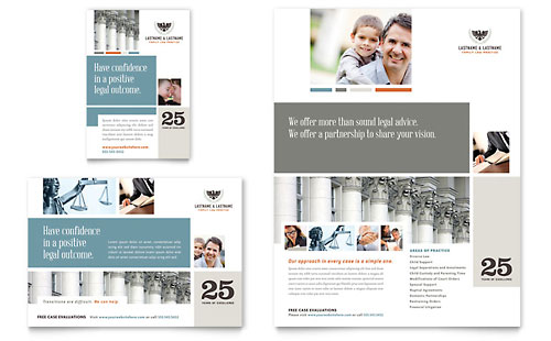 Family Law Attorneys Flyer & Ad Template